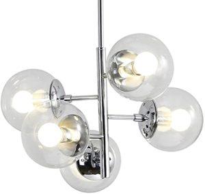 Lámpara de techo con forma de burbujas con bombillas de cristal